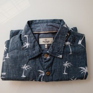 Burnside short sleeved shirt with palm trees sz S